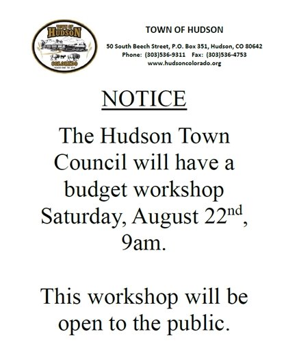 Budget Workshop info
