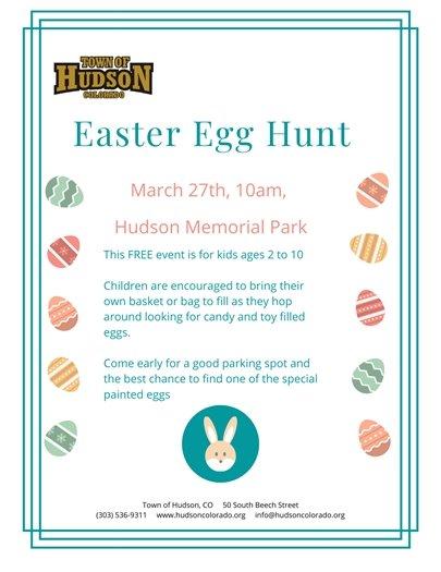 Easter Egg Hunt Flier
