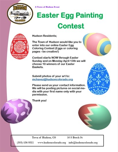 egg painting flyer